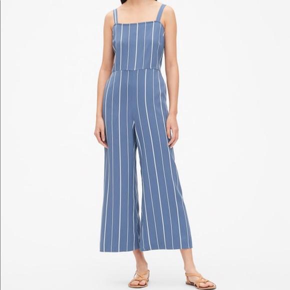 GAP Pants - GAP Stripe Apron Wide-Leg Jumpsuit